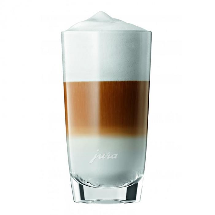 Latte macchiato glāzes ar apakštasīti JURA (2 gab.)