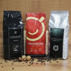 """Kafijas pupiņu komplekts """"Caprissimo Trio"""", 3kg."""