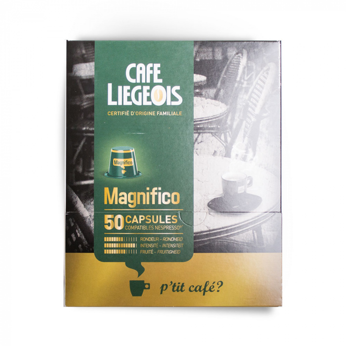 "Coffee capsules Cafe Liegeois ""Magnifico"" (50 pc)"
