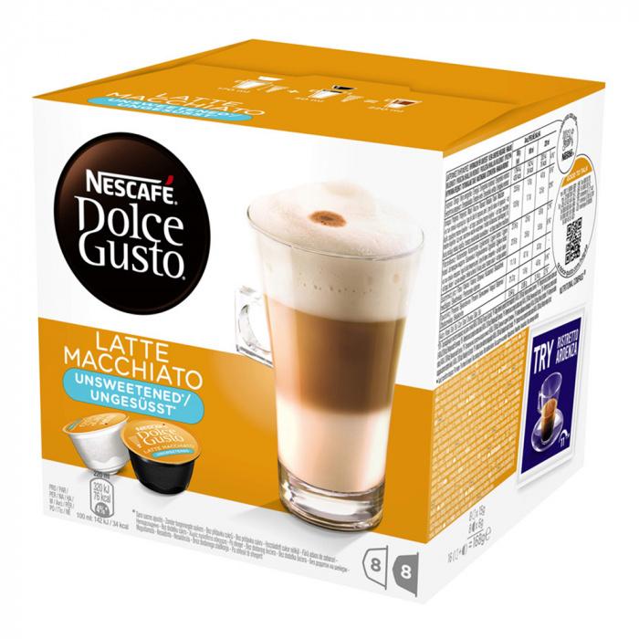 """Kafijas kapsulas NESCAFÉ Dolce Gusto """"Latte Macchiato"""" bez cukura"""