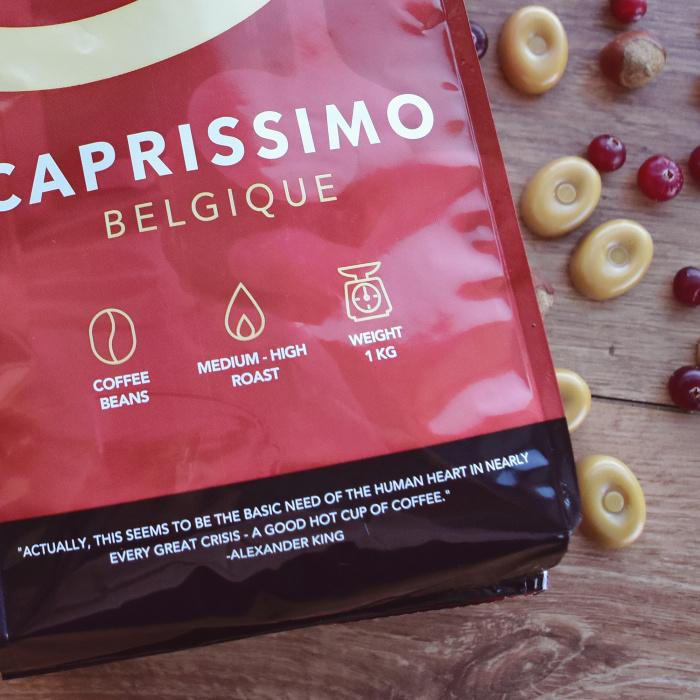 "Kafijas drauga pupiņas ""Caprissimo Belgique"", 1 kg"