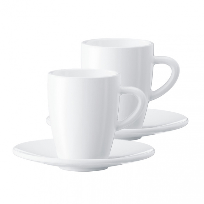 Filiżanka do kawy Espresso ze spodkiem JURA (2 szt.)
