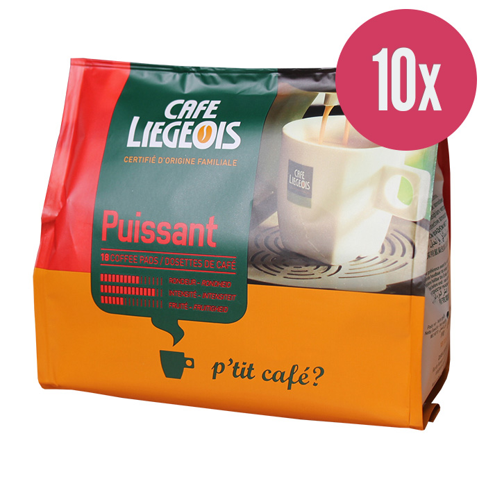 """Kafijas spilventiņi """"Cafe Liegeois Puissant"""" 144g. (x10)"""
