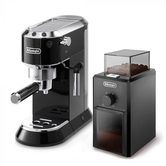 "Ekspres do kawy De'Longhi ""EC 680"" i młynek do kawy De'Longhi ""KG79"""