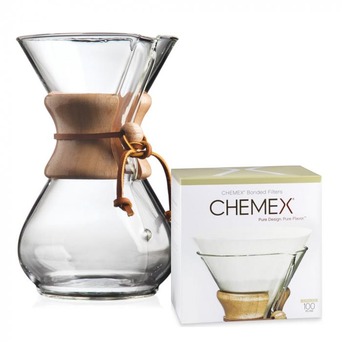 """Filtrowy zaparzacz do kawy Chemex """"1-6 cup"""""""