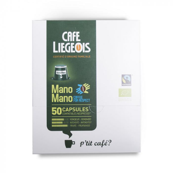 "Café Liegeois ""Mano Mano"" kahvikapselit, 50kpl"