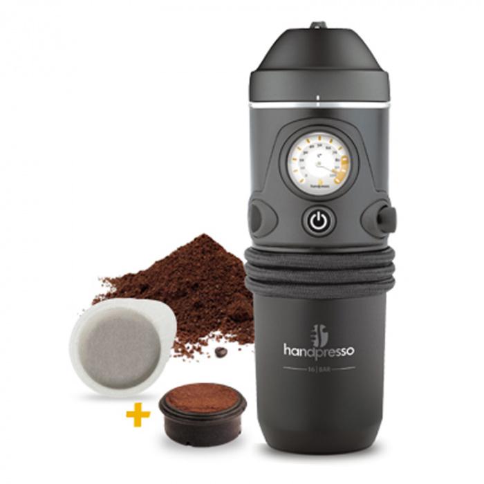 """Kohvimasin Handpresso """"Auto Hybrid"""" + jahvatatud kohvi"""