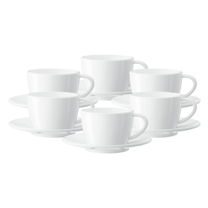 Cappuccino cup with a plate JURA (6 pc)
