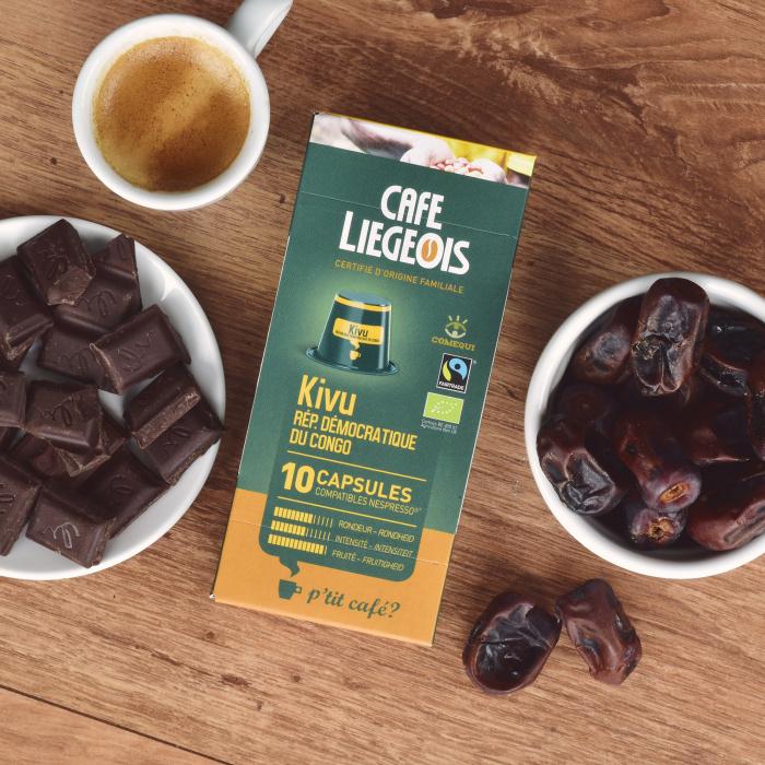 """Kohvikapslid Café Liegeois """"Kivu"""", 52g, 10 tk."""